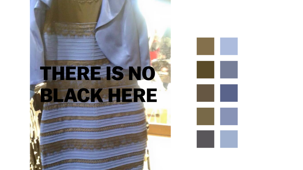 Was the dress blue and black or white and gold